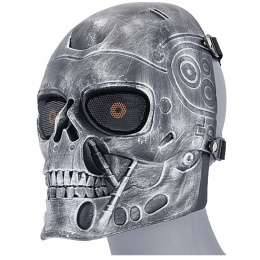 UK Arms Airsoft Terminator Tactical Mask - SILVER/BLACK