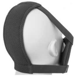 Black Bear Airsoft Tactical V8 Half Face Mesh Mask - BLACK SKULL
