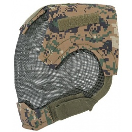 UK Arms Airsoft Tactical V6 Strike Full Face Mesh Mask Helmet - MARPAT