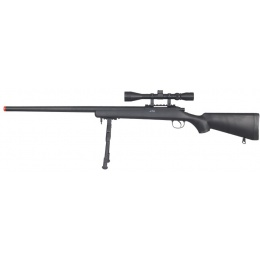 UK Arms Airsoft VSR-10 Bolt Action Rifle w/ Scope & Bipod - BLACK