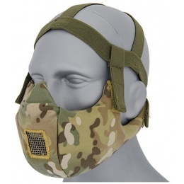 UK Arms Airsoft V5 Conquerors Tactical Half Face Mask - MODERN CAMO