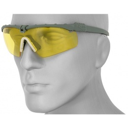 UK Arms Protective Shooting Glasses Gray Frame - YELLOW