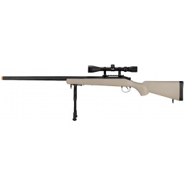 UK Arms Airsoft VSR-10 Bolt Action Rifle w/ Scope & Bipod - TAN