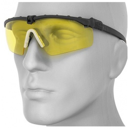 UK Arms Protective Shooting Glasses Black Frame - YELLOW