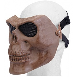 UK Arms Airsoft Mesh Skull Full Face Mask - DRIED BONE