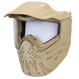 UK Arms Airsoft Full Face Protection Mask w/ Visor - TAN