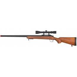 WELL Airsoft VSR-10 Bolt Action Rifle w/ Scope - WOOD