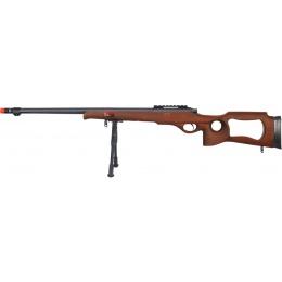 WELL Airsoft MB09WBIP Bolt Action Rifle w/ Barrel & Bipod - WOOD