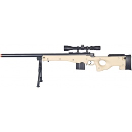 WellFire Airsoft L96 AWP Bolt Action Rifle w/ Bipod and Scope - TAN