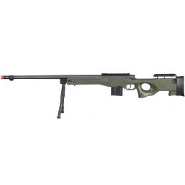 UK Arms Airsoft L96 Bolt Action Fluted Rifle w/ Bipod - OD GREEN