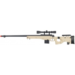 UK Arms Airsoft L96 Fluted Barrel Bolt Action Rifle w/ Scope - TAN
