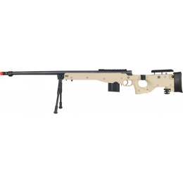 UK Arms Airsoft L96 Fluted Barrel Bolt Action Rifle w/ Bipod - TAN
