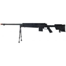 UK Arms Airsoft VSR-10 Metal Bolt Action Rifle w/ Bipod - BLACK