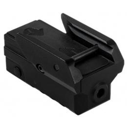 NcStar Compact Aluminum Pistol Green Laser w/ Strobe - BLACK