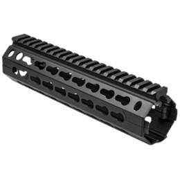 NcStar AR15 KeyMod Aluminum Hanguard - Mid-Length - BLACK