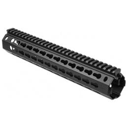 NcStar AR15 KeyMod Aluminum Hanguard - Rifle-Length - BLACK