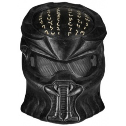 UK Arms Wire Mesh Wolf 7.0 Full Face Mask - BLACK/SILVER