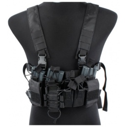 UK Arms Airsoft Tactical D-Mittsu Cordura Chest Rig - BLACK