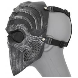 UK Arms Shock Resistant Vertabral Full Face Mask - SILVER/BLACK