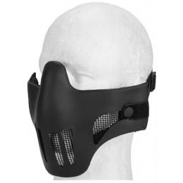 AMA Airsoft Protective Mesh Vented Half Mask - BLACK