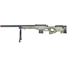 Well Airsoft L96 AWP Bolt Action Rifle w/ Bipod - OD GREEN