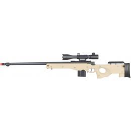 Well Airsoft MK96 Bolt Rifle w/ Barrel & Rangefinder Scope - TAN