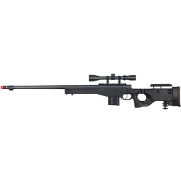Well Airsoft MK96 Bolt Action Rifle w/ Barrel & Duplex Scope - BLACK