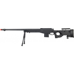 Well Airsoft MK96 Bolt Action Rifle w/ Barrel & Bipod - BLACK