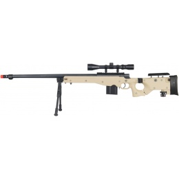 Well Airsoft MK96 Bolt Action Rifle w/ Barrel, Scope & Bipod - TAN