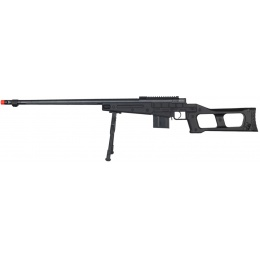 Well Airsoft MK96 Bolt Action Rifle w/ Barrel, Bipod, & Stock - BLACK