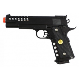 JG M188 Airsoft 1911 Spring Powered ABS Plastic Pistol - BLACK