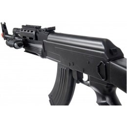 UK Arms P48 Airsoft AK-47 Spring Rifle w/ Laser & Flashlight - BLACK