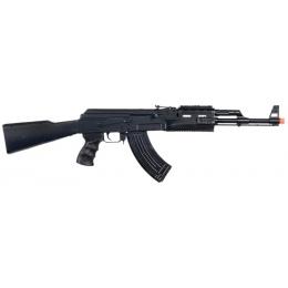 UK Arms P48 Airsoft AK-47 Spring Rifle w/ Laser & Flashlight - BLACK
