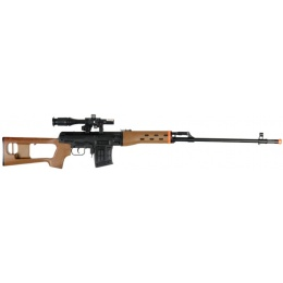 UK Arms Dragunov Airsoft  Rifle w/ Laser & Flashlight - WOOD