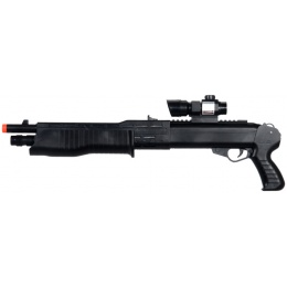 UK Arms P1099 Airsoft Shotgun w/ Laser, Flashlight, Scope - BLACK