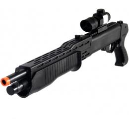 UK Arms P1099 Airsoft Shotgun w/ Laser, Flashlight, Scope - BLACK