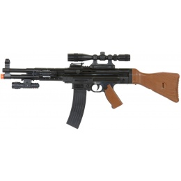 UK Arms MP44 Spring Rifle w/ Scope, Laser & Flashlight - BLACK