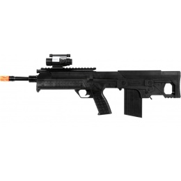 UK Arms P1389F Bullpup Airsoft Spring Rifle w/ Flashlight - BLACK