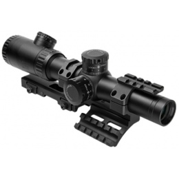 NcStar EVO 1.1-4 x 24mm Dot + Plex Scope w/ SPR Mount - BLACK