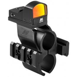 NcStar Moss 500/590 Red Dot Optic w/ Barrel Rail Mount - BLACK