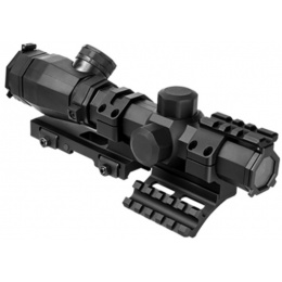 NcStar Octagon 1.1-4 x 20mm P4 Sniper Optic w/ SPR Mount - BLACK