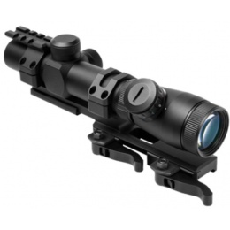 NcStar Shooter MilDot Optic Combo w/ SPR Rail Mount - BLACK