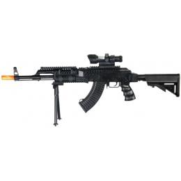 UK Arms Airsoft Spring Laser Rifle w/ Bipod - BLACK