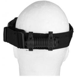 UK Arms Tactical Low Profile Ballistic Goggles w/ Fan - TAN