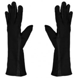 UK Arms Leather Nomex Flight Gloves Medium - BLACK