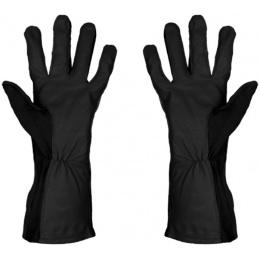 UK Arms Leather Nomex Flight Gloves Medium - BLACK