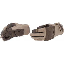 UK Arms Airsoft Tactical Hard Knuckle Gloves XL - TAN