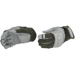 UK Arms Airsoft Tactical Hard Knuckle Gloves Medium - SAGE