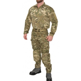 Lancer Tactical Rugged Combat Uniform w/ Integrated Pads - CAMO ARID