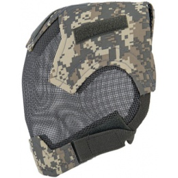UK Arms Airsoft V6 Strike Wire Mesh Mask Helmet - ACU